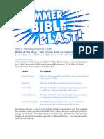 Day 1-Summer Bible Blast -