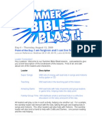 Day 4-Summer Bible Blast -