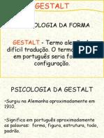 Gestalt e Psicanalise