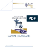 Manual de Usuario Solicitud de Citas Medicas via Web