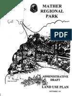 Mather Regional Park - Draft Land Use Plan