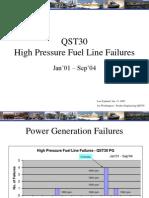 High Pressure Fuel Line Failures- QST30 n