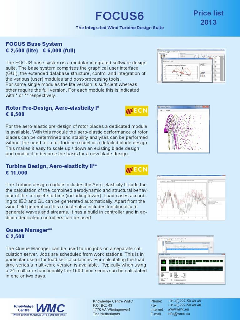 WMC_FOCUS6_pricelist2013   Finite Element Method   Turbine