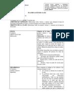 PLANIFICACIÓN DE CLASE orientacion