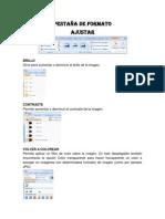 PESTAÑA DE FORMATO II