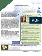 Newsletter Spring '09 Volume 6 No. 2