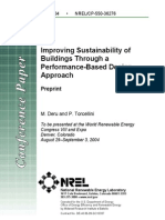 Improving Sustainability of Buildings Through a Performance-Based Design Approach
