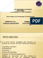 Final Ratio Analysis