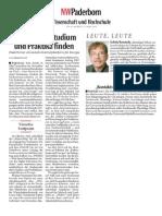 2009-03-23 NW Paderborn - Mit WISHES Studium Und Praktika Finden
