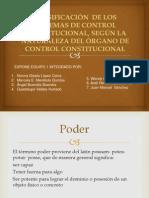 EXPO COMPLETA CLASIFICACIÓN DE LOS SISTEMAS DE CONTROL CONSTITUCIONAL