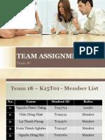 Team Assignment