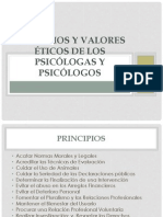 Diapositivas Principios y valores éticos de los psicólogas