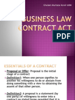 Business Law Contract Act 1872