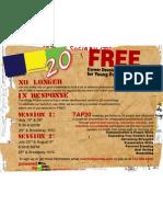 Tap 20 Launch Flyer