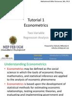 Tutorial Single Equation Regression Model