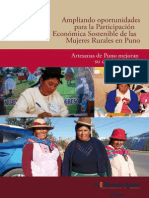 Ampliando oportunidades para la participación económica sostenible de las mujeres rurales de Puno