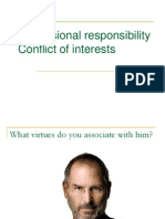 Responsibility Conflict of Interests