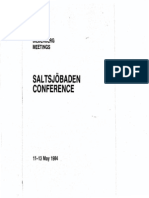 Bilderberg Meetings Conference Report 1984