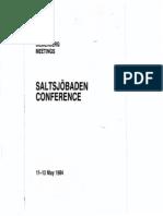 Bilderberg Meetings Conference Report 1984