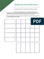 Unit 1 - Puzzle Factors and Multiples