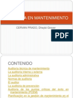 Auditoria en Mantenimiento