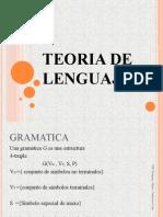 TEORIA DE LENGUAJE