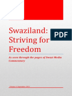 Swaziland Striving for Freedom Vol 9 September 2013