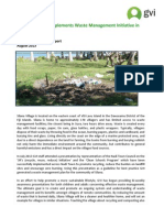 GVI Fiji Achievement Report - Waste Management, August 2013 Updated