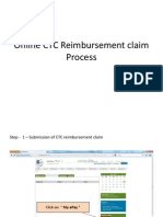 Online CTC Reimbursement Claim Process