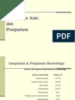 Perdarahan Ante Dan Postpartum