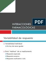 Interacciones farmacologicas