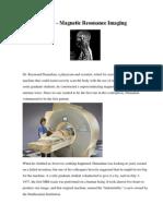 MRI - Magnetic Resonance Imaging