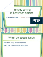 Comedy Writing Classes