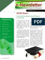 KISM E-Newsletter  2013