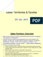 Sales Teritories & Quotas