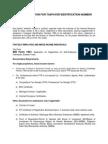 BIR - Application for TIN