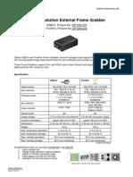 High Resolution External Frame Grabbers