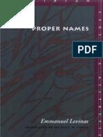 Levinas Proper Names