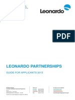 Call Leonardo Partnerships Guide for Applicants PILOT PROJECTS ON EMPLOYMENT OF PERSONS WITH AUTISM SPECTRUM DISORDERS