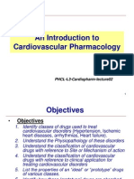1-Introduction to Pharmacology of Cardiovascular Drugs 0ct10
