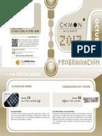 CAMON Alicante. Programación de Octubre de 2013. Obra Social. Caja Mediterráneo