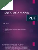 job hunt in media