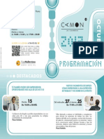 CAMON Las Cigarreras. Programacion. Octubre 2013. Obra Social. Caja Mediterráneo
