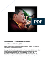 Interview Mit Dem 17. Gyalwa Karmapa Thaye Dorje
