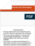 HRM-Training Methods and Techniques