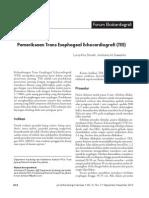 Pemeriksaan Trans Esophageal Echocardiografi (TEE)