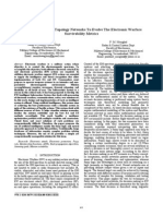 Simulation of Radar Topology Networks to Evolve the Electronic Warfare Survivability Metrics