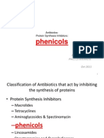10 Antibiotics Protein Synthesis Inhibitors Phenicols