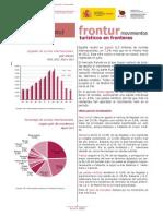 DATOS TURISTICOS DE ESPAÑA de Frontur. Agosto 2013