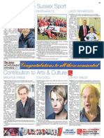Contribution to Sussex Sport